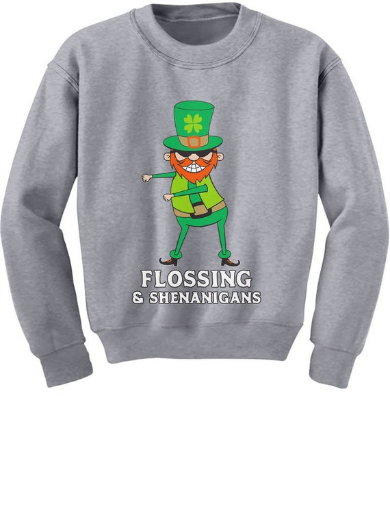 St Patrick Flossing /& Shenanigans Youth Kids Long Sleeve T-Shirt