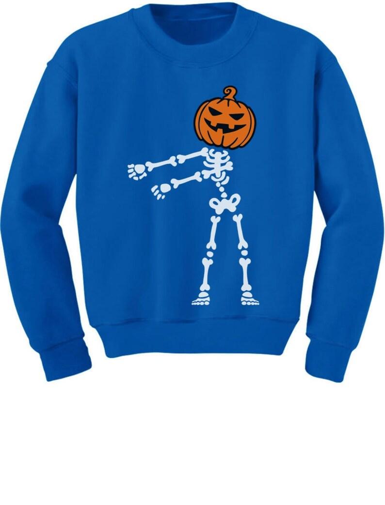Tstars Skeleton Floss Dance Jack O Lantern Pumpkin Halloween Youth Kids Sweatshirt