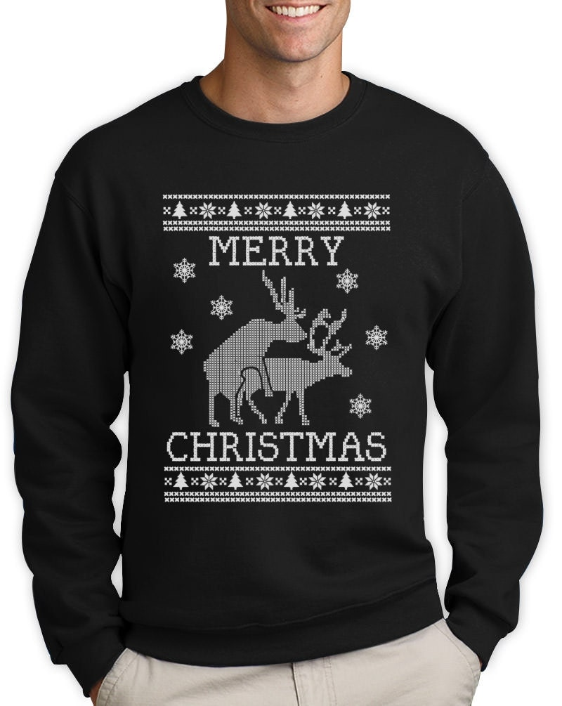 Merry Christmas Humping reindeers Ugly Christmas sweater | Etsy