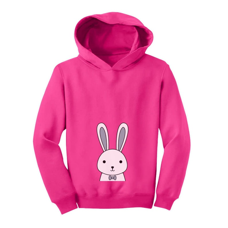 Funny Easter Bunny Boys  Girls Toddler Hoodie
