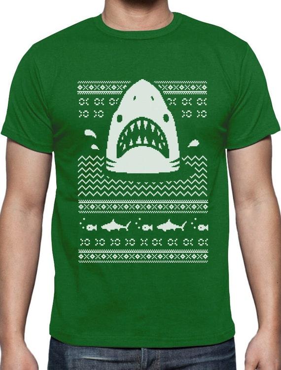 Great White Shark Ugly Christmas Sweater Off shoulder sweatshirt Gift