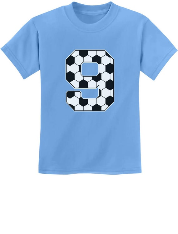 Soccer Fan 9th Birthday Gift For 9 Year Old Youth Kids T Shirt