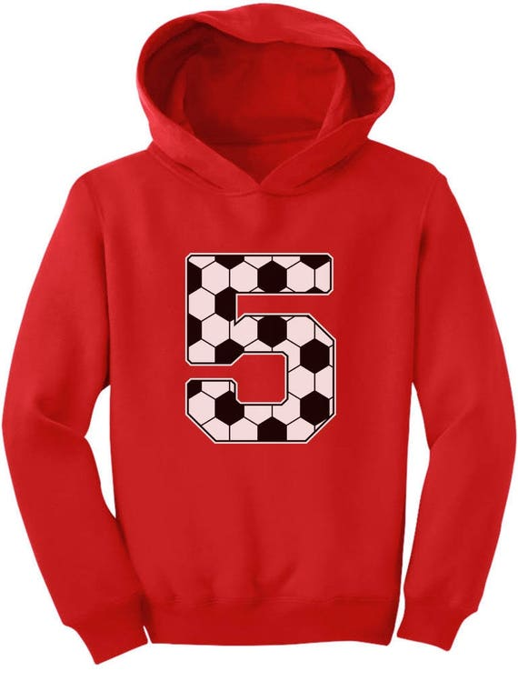 Soccer 5th Birthday Gift For 5 Year Old Toddler Hoodie