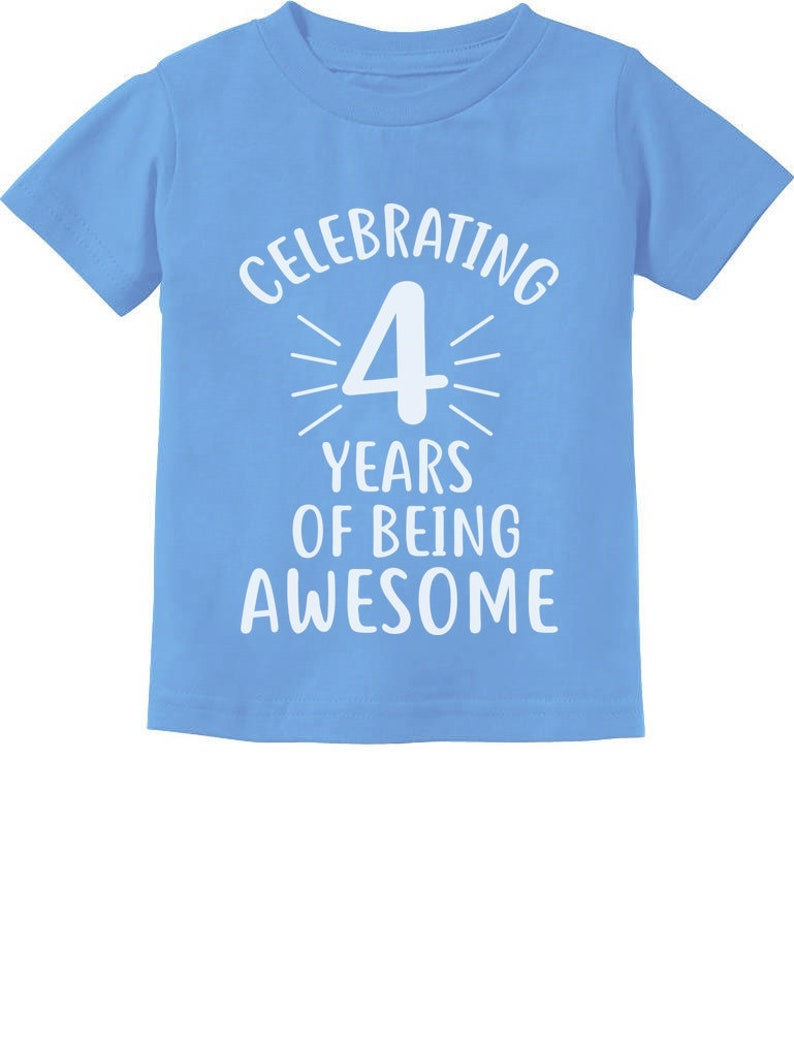 4 Years Of Being Awesome Birthday Gift For Year Old Toddler