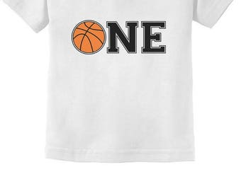 1st Birthday Gift for One Year old Infant Basketball Infant Kids T-Shirt