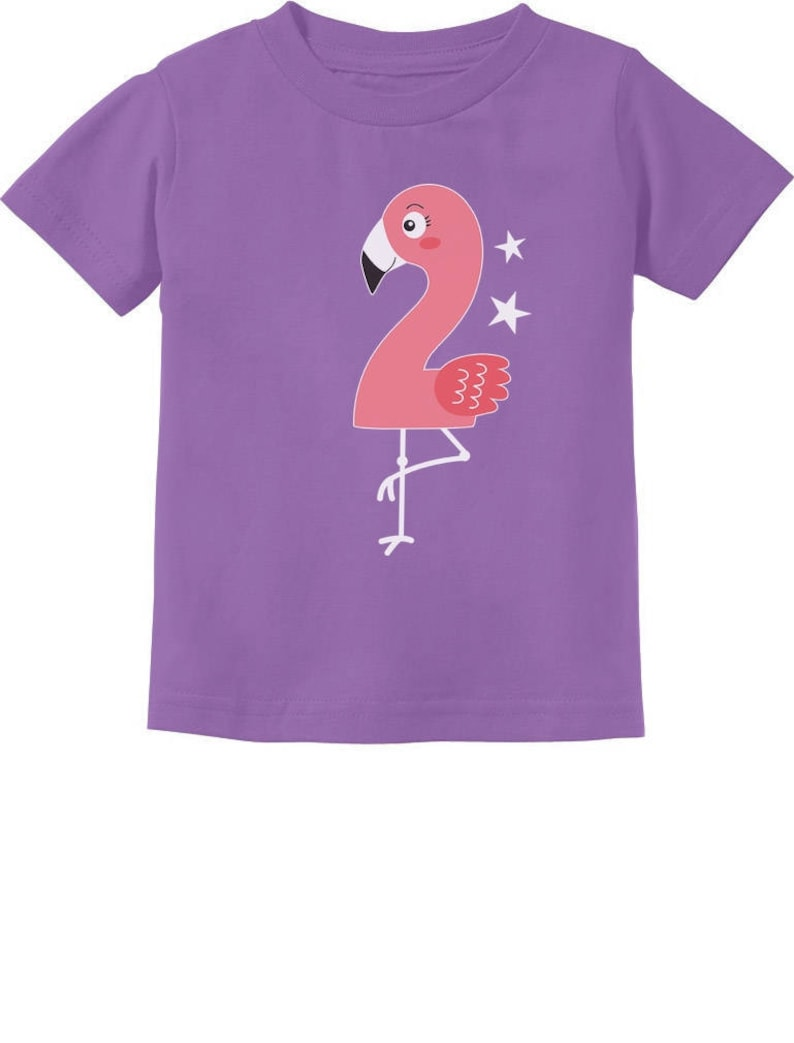 Flamingo 2nd Birthday Gift For Two Year Old Toddler Kids