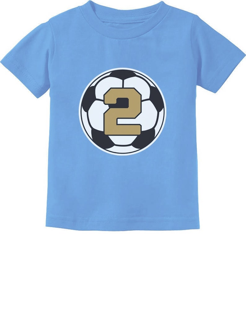 d19a42cc 2 Year old Second Birthday Gift Soccer Toddler Kids T-Shirt | Etsy
