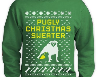 Pugly Ugly Christmas Sweater Men Funny Sweatshirt