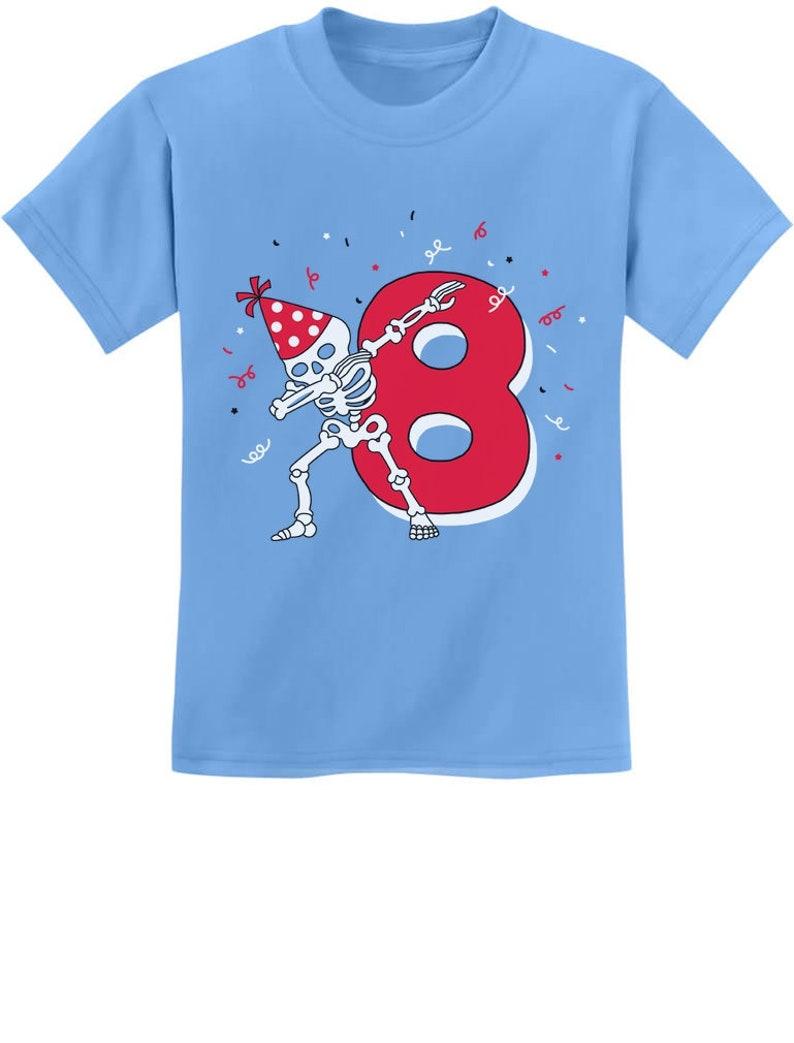 ef76bb1f Dabbing Skeleton 8th Birthday Eighth Year Dab Youth Kids | Etsy