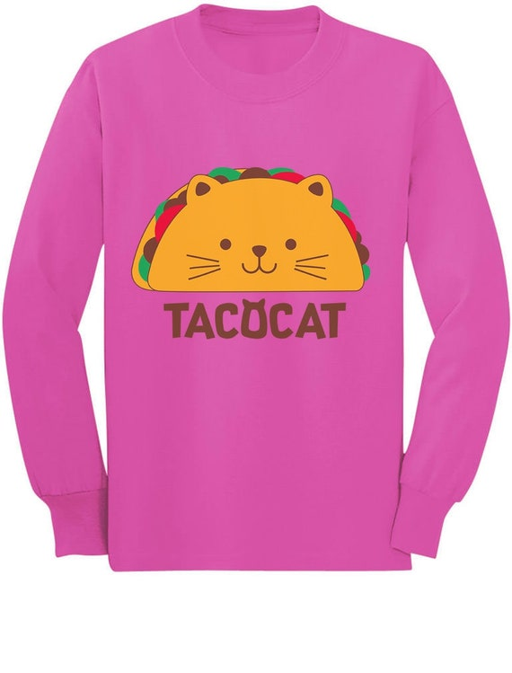 TacoCat Spelled Backwards Is Taco Cat Funny Kids T-Shirt Palindrome