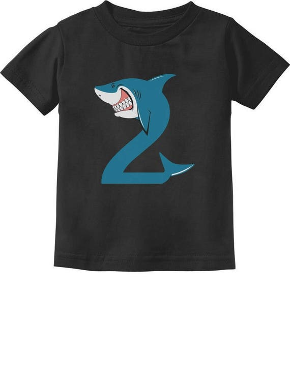 2nd Birthday Shark Party Gift For 2 Year Old Toddler Kids