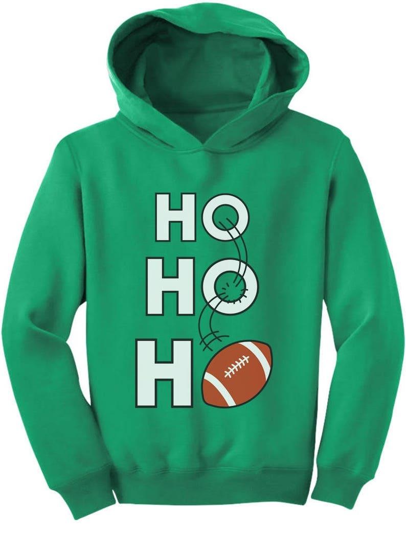 Ho Ho Ho Christmas Gift for Football Lovers Toddler Hoodie