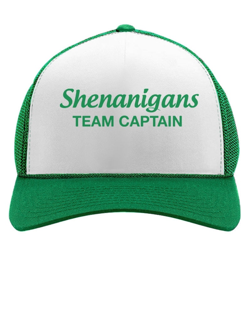 8828533e0 Cool Shenanigans Team Captain St. Patrick Trucker Hat Mesh Cap
