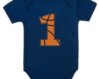 Basketball 1st Birthday Gift for One Year old Infant Baby Bodysuit