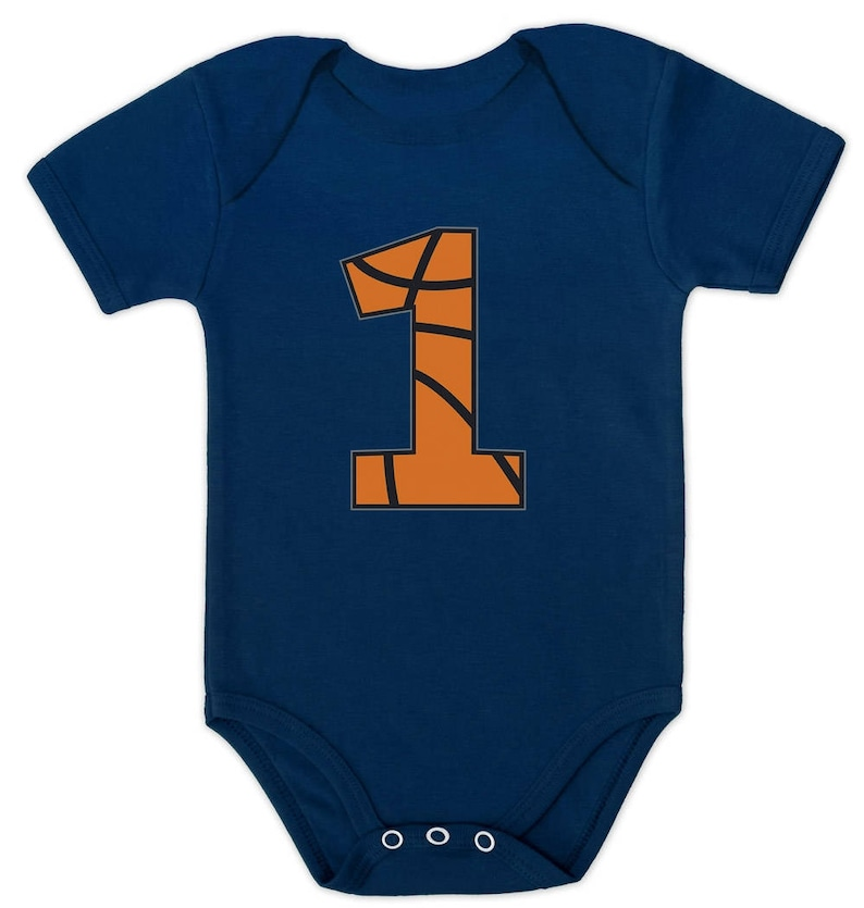 Basketball 1st Birthday Gift For One Year Old Infant Baby