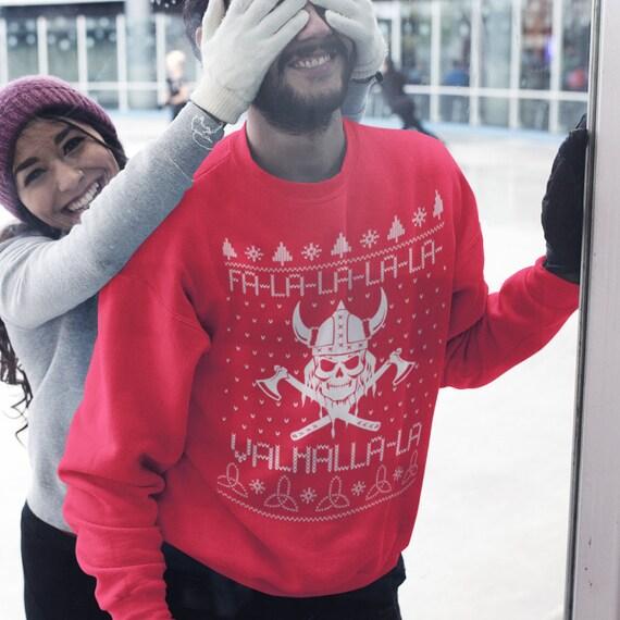 Valahalla Mythology Viking Nordic God Ugly Christmas Sweater Sweatshirt