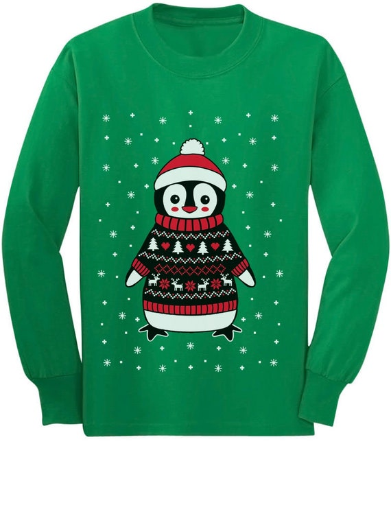 Funny Brother Ugly Christmas Sweater Toddler//Kids Long sleeve T-Shirt Gift