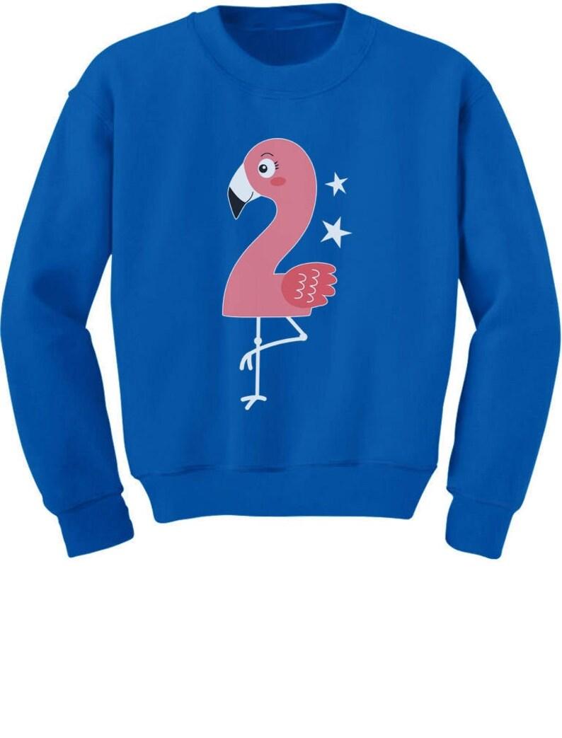 Flamingo 2nd Birthday Gift for Two Year old ToddlerKids Sweatshirt