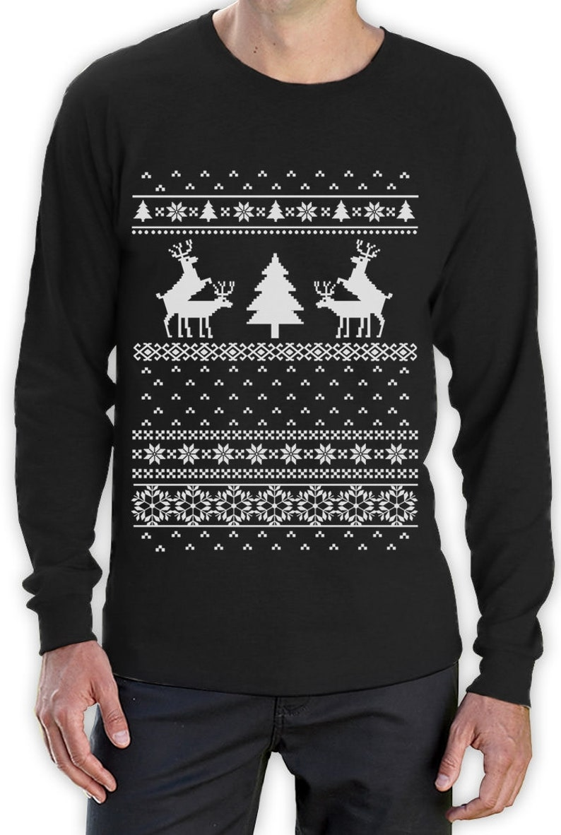 40257b066 Humping Reindeer Funny Ugly Christmas Sweater Men's Long | Etsy