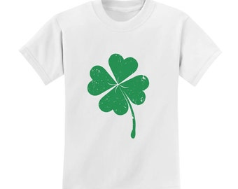 Faded Shamrock - St. Patrick's Day - Short Sleeve Toddler T-Shirt