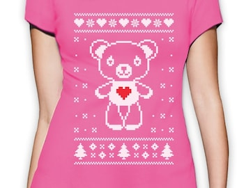 Christmas Teddy Bear - Women's T-Shirt