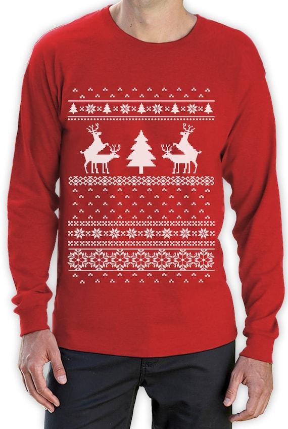 Schleppen Rentier lustige hässlich Weihnachten Pullover Herren | Etsy