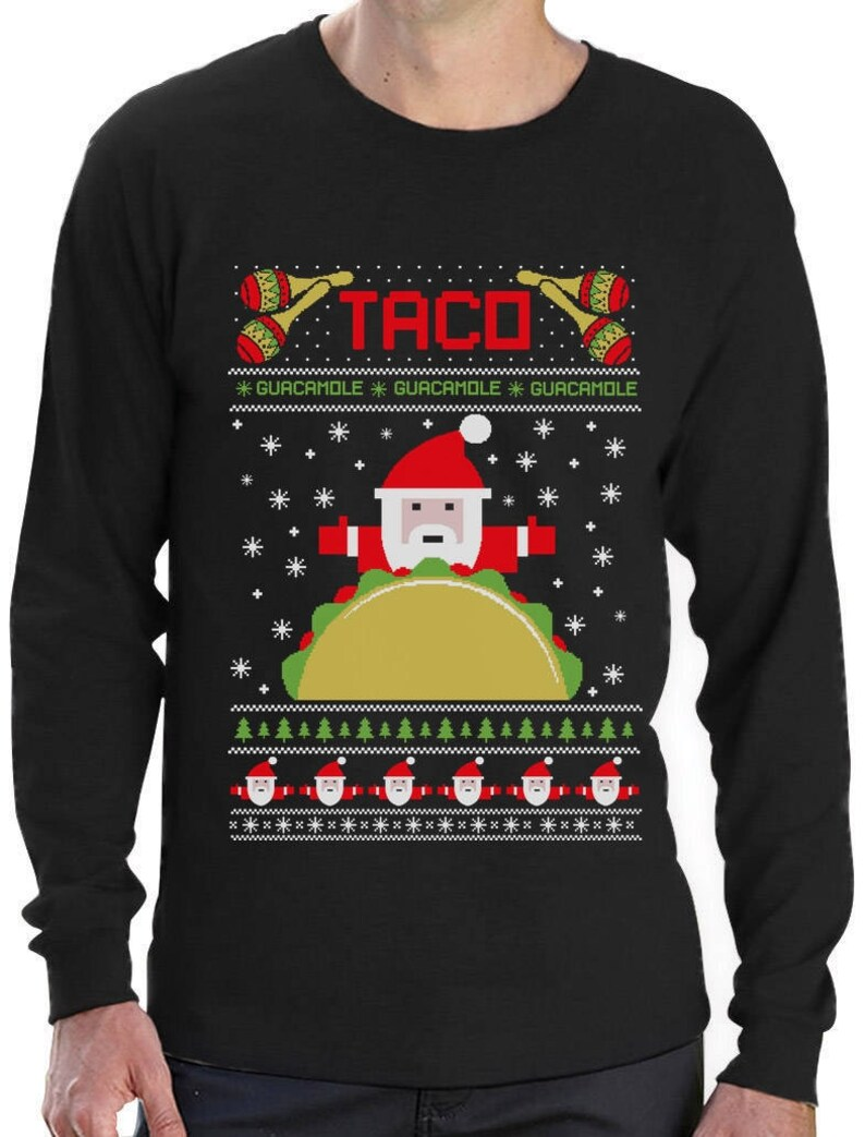 Tractors /& Bulldozers Ugly Christmas Sweater Youth Kids Long Sleeve T-Shirt Gift