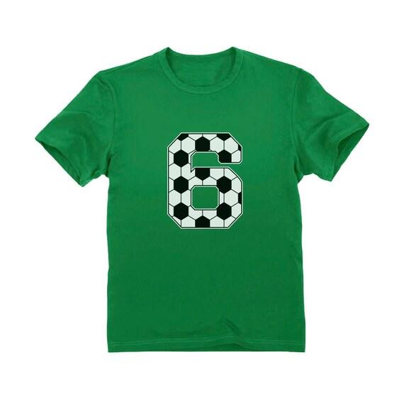 Voetbal 6e Verjaardag Cadeau Voor 6 Jaar Oude Jeugd Kinderen T Shirt