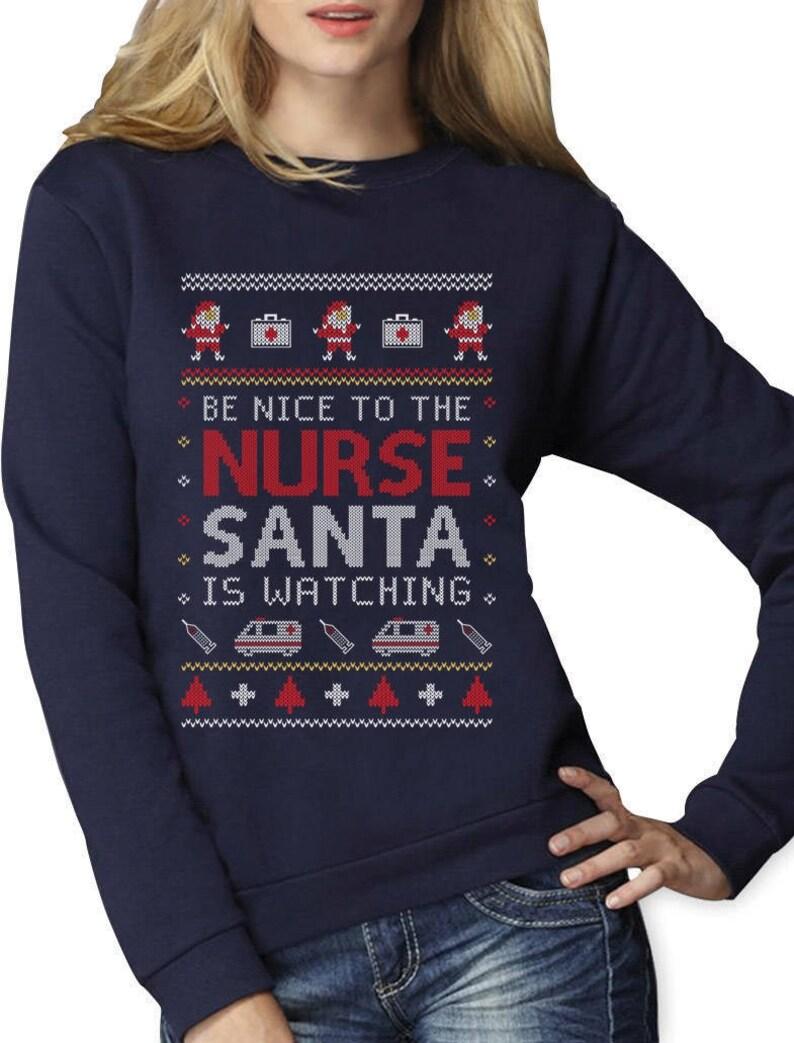 Nurse Christmas Sweater.Nurse Ugly Christmas Sweater Funny Xmas Gift For Nurses Women Sweatshirt