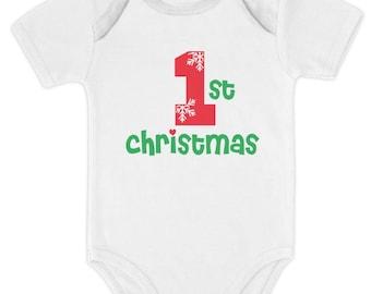 First Christmas Baby Boy / Baby Girl Cute Xmas Baby Bodysuit