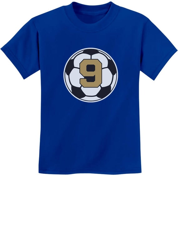 Soccer Fan 9th Birthday Gift for 9 Year old Youth Kids T-Shirt Ninth Birthday