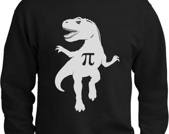 Pi T-Rex Dinosaur Pi Day Gift Funny Sweatshirt