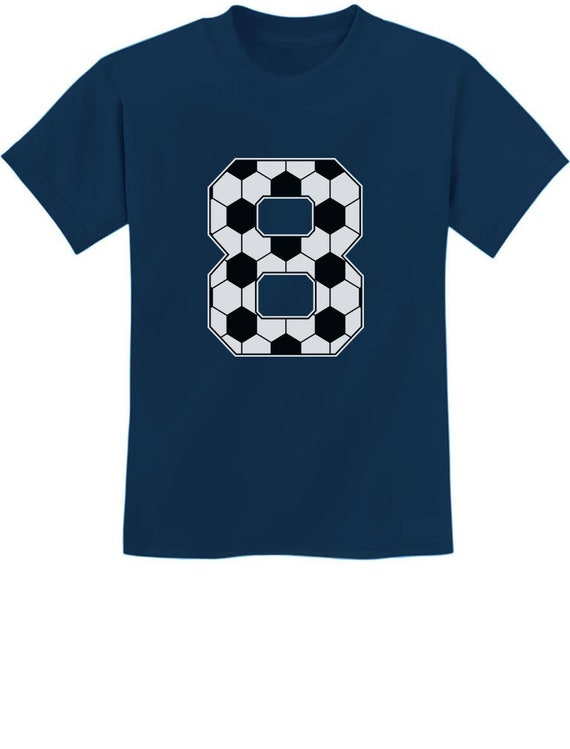 Soccer Fan 8th Birthday Gift For 8 Year Old Youth Kids T Shirt
