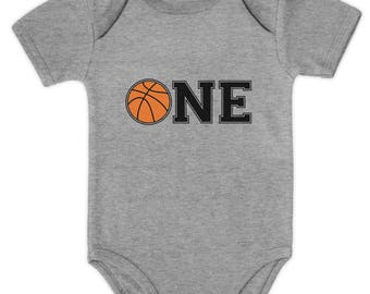 1st Birthday Gift for One Year old Infant Basketball Baby Bodysuit