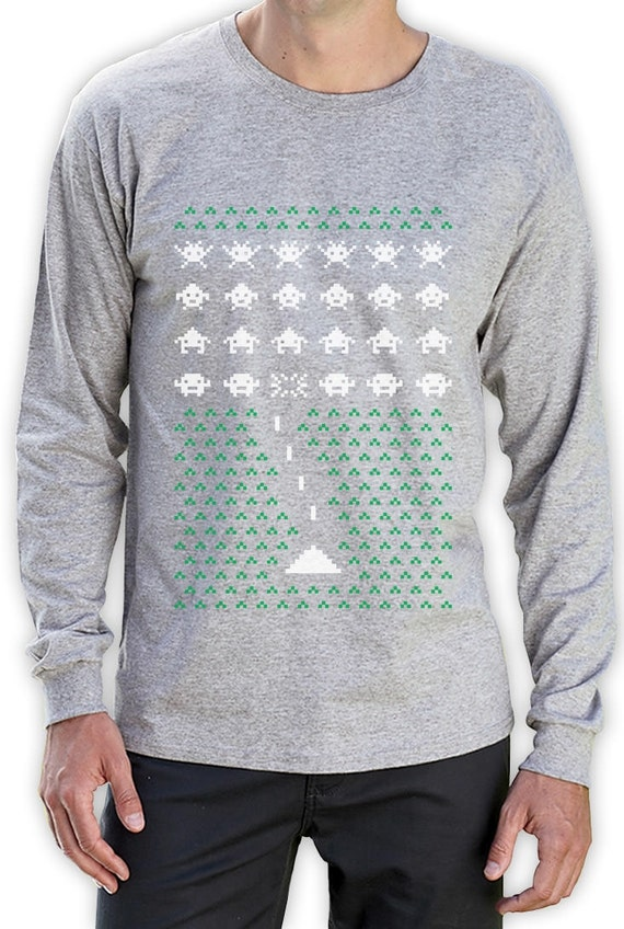 Ugly Christmas Sweater Space Invaders - S to 2XL