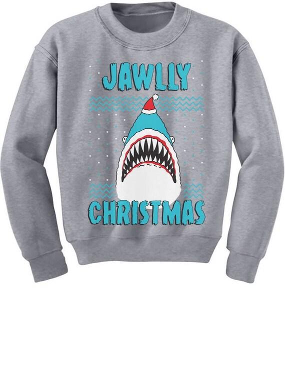 Jawlly Christmas Shark Ugly Christmas Toddler Kids T-Shirt Xmas Gift