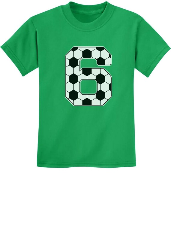 Soccer 6th Birthday Gift For 6 Year Old Youth Kids T Shirt
