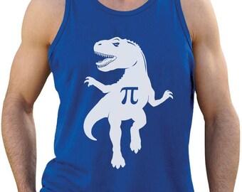Pi T-Rex Dinosaur Pi Day Gift Funny Singlet