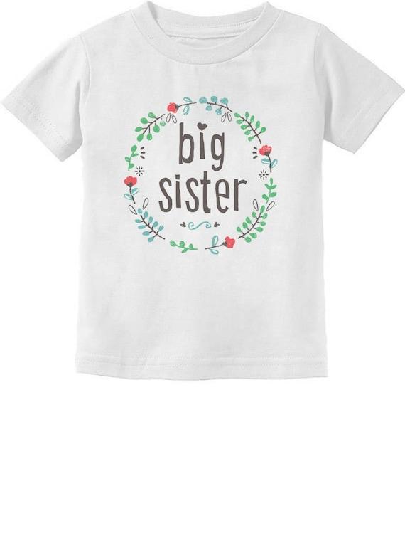 Grande Sœur est 2019 Best Sister Cadeau Enfant Fille Cadeau CASUAL WEAR T-Shirt