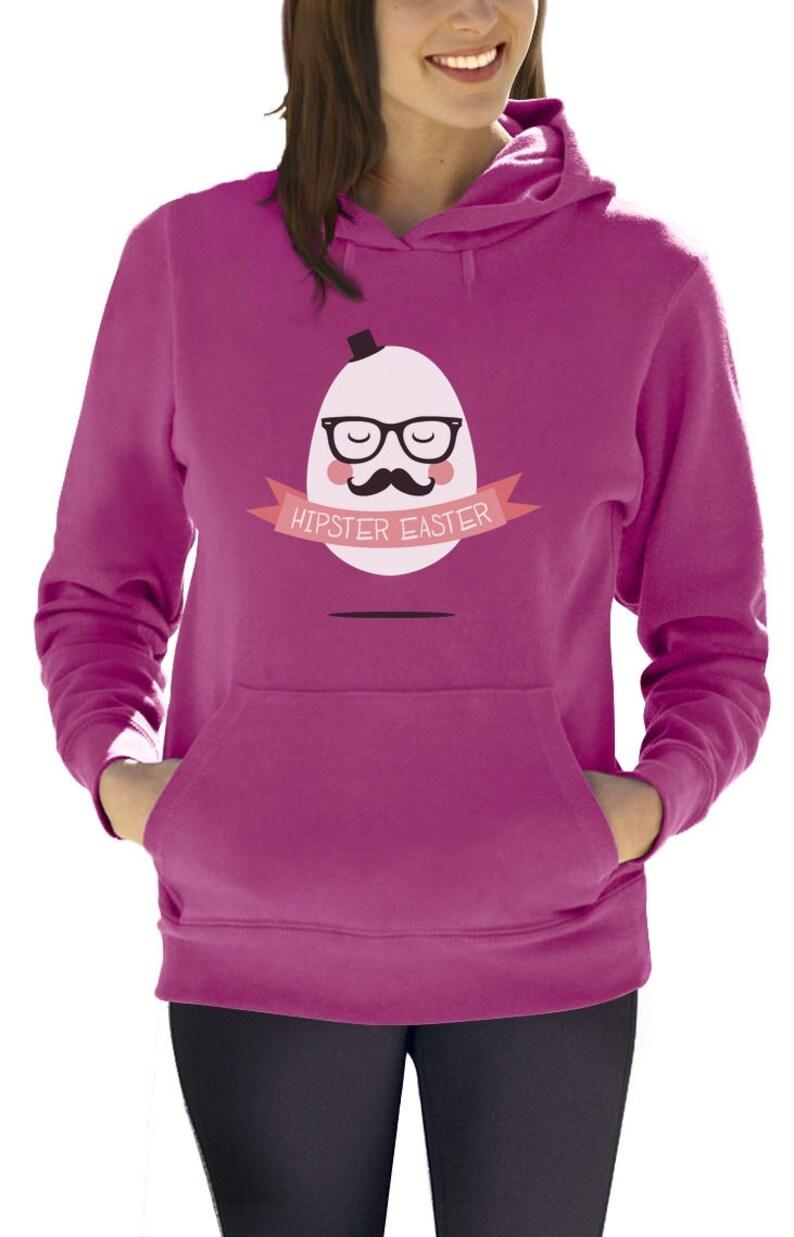 Hipster Easter Mister Egg Women/'s Hoodie