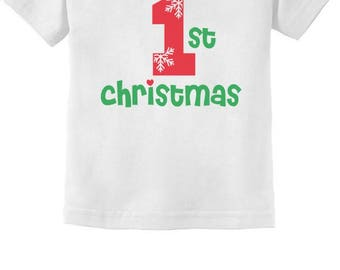 First Christmas Baby Boy / Baby Girl Cute Xmas Infant Kids T-Shirt