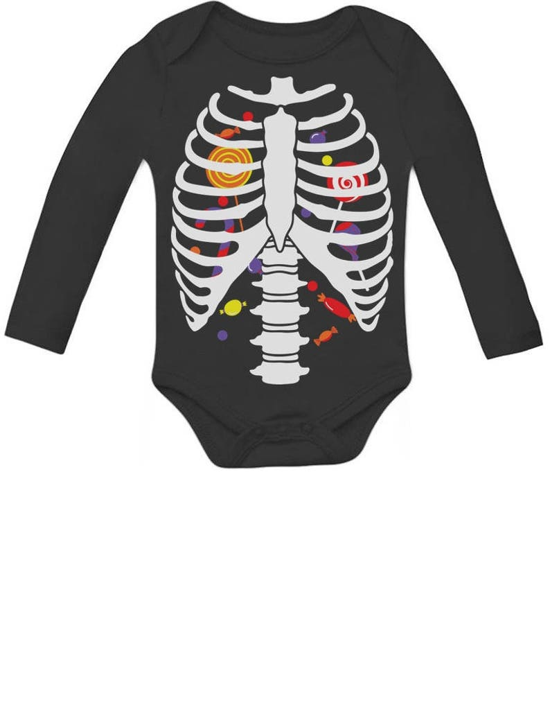 dcf6851058 Sweet Candy Skeleton Rib-cage X-Ray Halloween Costume Baby | Etsy