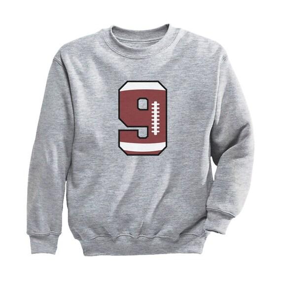 Tstars 9 Year Old Ninth Birthday Gift Soccer Youth Kids Long Sleeve T-Shirt