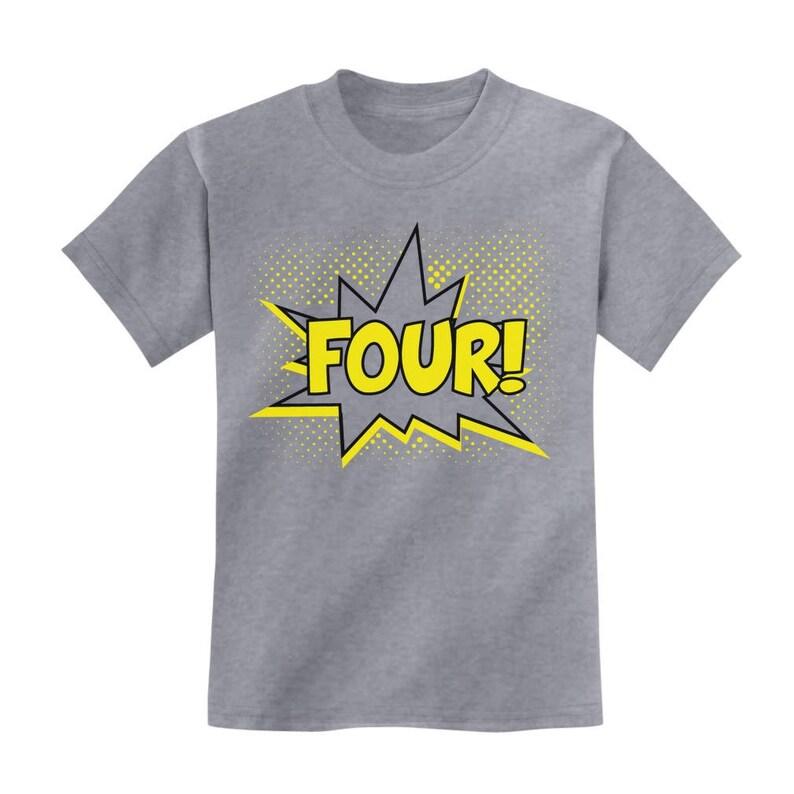 Four Superhero Fourth Birthday 4 Years Old Gift Idea Kids