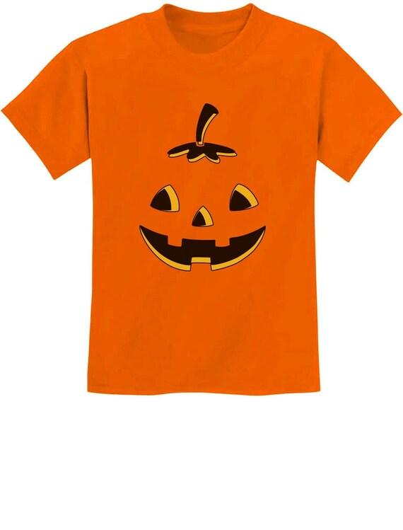 Youth Jack O/' Halloween Pumpkin T shirts Kids Tees Tops Pumpkin Tee