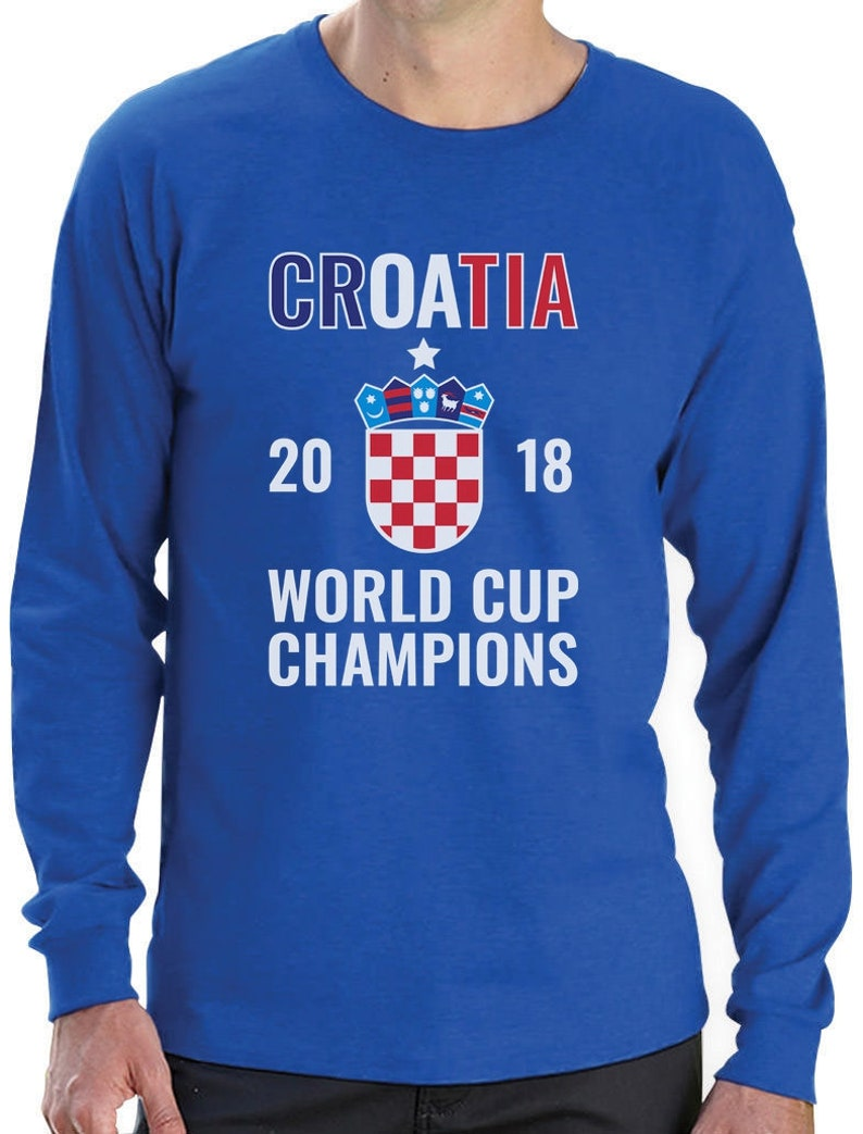 Croatia Flag 2018 Champions Soccer Team Fans Long Sleeve T-Shirt Gift Idea