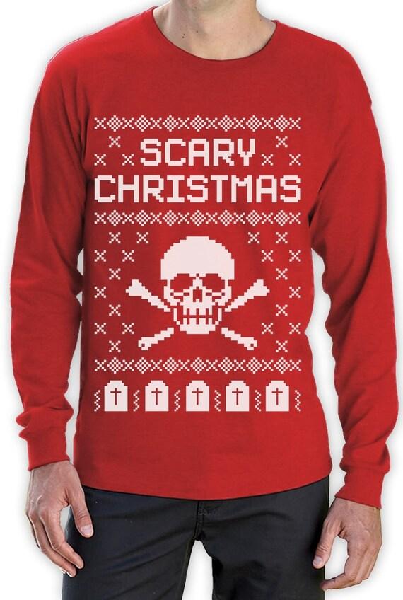 Hässliche Weihnachten Pullover Schädel beängstigend | Etsy