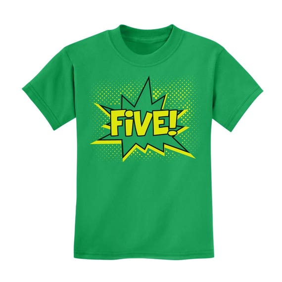 Five Superhero Fifth Birthday 5 Years Old Gift Idea Kids