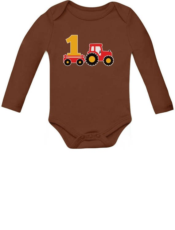 One Year Old Boy Birthday Gift 1st Tractor Baby Long