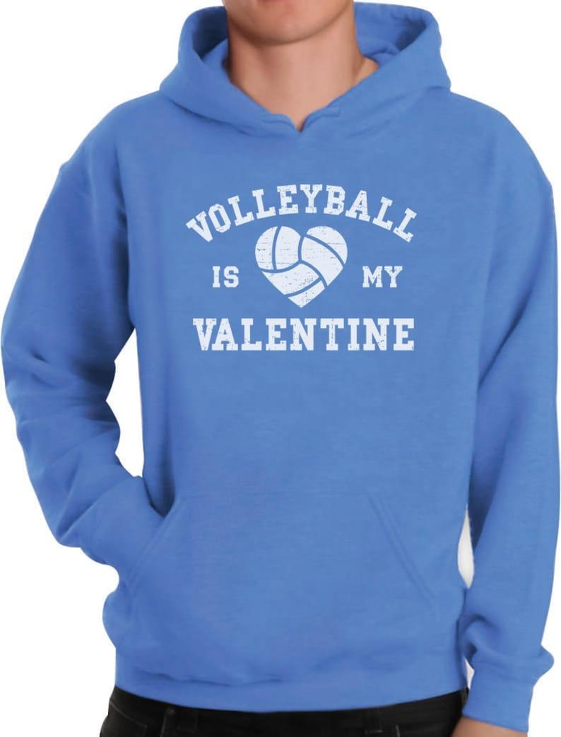 Volleyball is My Valentine Men/'s Hoodie